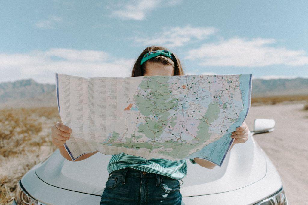 carte pour s'orienter pendant des vacances