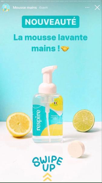 Nouveau produit story Instagram
